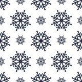 Mooie naadloze achtergrond voor Vrolijke Kerstmis of Nieuw jaar Sneeuwvlokken op een witte achtergrond Royalty-vrije Stock Foto