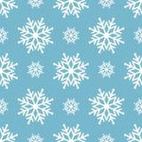 Mooie naadloze achtergrond voor Vrolijke Kerstmis of Nieuw jaar Sneeuwvlokken Patroon voor verpakkend document of stof Royalty-vrije Stock Fotografie