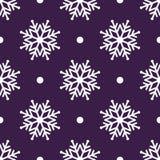 Mooie naadloze achtergrond voor Vrolijke Kerstmis of Nieuw jaar Witte sneeuwvlokken op een achtergrond Royalty-vrije Stock Fotografie