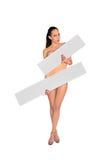 Mooie naakte vrouw Stock Foto's