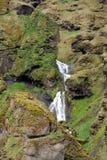 Mooie Naamloze waterval in nabijheid van Vic in IJsland stock foto