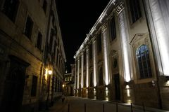 Mooie nacht in Polen, Wroclaw, nacht! stock afbeeldingen