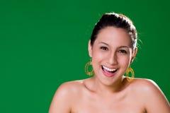 Mooie natuurlijke grote glimlach Stock Foto's