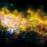 Mooie nebulaes in kosmische ruimte Elementen van dit die beeld door NASA wordt geleverd royalty-vrije illustratie