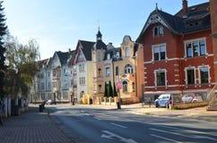 Mooie Nordhausen-gebouwen Stock Afbeelding