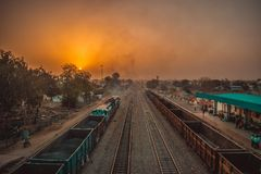 Mooie ochtend van Jaipur, Rajasthan royalty-vrije stock foto's