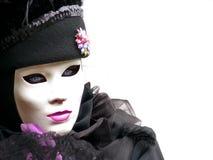 Mooie ogen achter het masker Stock Afbeelding