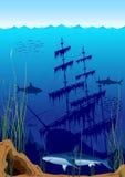 Mooie onderwaterwereld stock illustratie