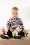 Mooie onschuldige pasgeboren Stock Foto