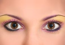 Mooie oogmake-up Stock Foto
