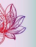 Mooie oosterse lotusbloembloem, rode gradiënt Royalty-vrije Stock Foto's