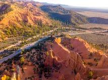 Mooie oranje Bryce-canionklippen stock afbeelding