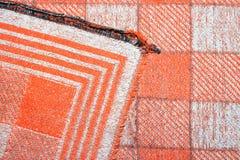 Mooie oranje plaid Stock Afbeelding