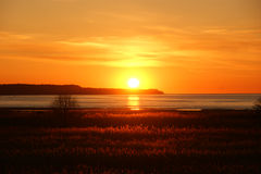 Mooie oranje zonsondergang Royalty-vrije Stock Afbeelding
