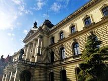 Mooie oude architectuur van Szczecin, Polen stock fotografie
