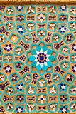 Mooie oude die baksteen met het mozaïek van de kleurentegel, Iran wordt ingelegd Royalty-vrije Stock Fotografie
