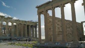 Mooie Oude Griekse Ruïnes stock videobeelden