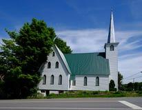 Mooie oude kerk in Quebec Stock Fotografie