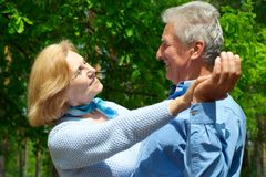 Mooie oude mensen royalty-vrije stock foto's