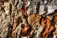 Mooie Oude Ongelijke de Baksteentextuur van Grunge van Concrete Ruwe Muur Royalty-vrije Stock Foto's