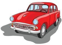 Mooie oude rode retro personenauto Royalty-vrije Stock Foto's