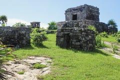 Mooie oude ruïnes in Tulum Mexico royalty-vrije stock foto's