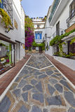 Mooie oude stad Marbella in Spanje, de EU Stock Foto's