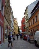 Mooie oude straat Duitsland Royalty-vrije Stock Afbeeldingen