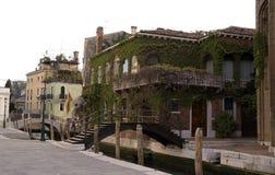 Mooie oude villa in Venetië Italië Stock Foto