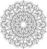 Mooie overladen uitstekende vectormandalaillustratie Stock Illustratie