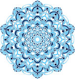 Mooie overladen uitstekende vectormandalaillustratie Royalty-vrije Stock Foto