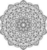 Mooie overladen uitstekende vectormandalaillustratie Stock Afbeelding