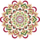 Mooie overladen uitstekende vectormandalaillustratie Stock Foto