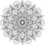 Mooie overladen uitstekende vectormandalaillustratie Stock Foto's
