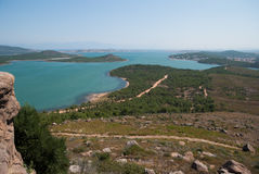 Mooie overzees en groen eiland Royalty-vrije Stock Fotografie