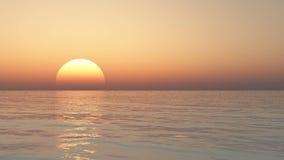 Mooie overzees en hemel bij zonsondergang Stock Foto's