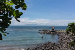 Mooie overzees en kustlijnen van Gili Meno, Indonesië stock foto's
