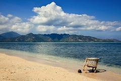 Mooie overzees en kustlijnen van Lucht Gili. stock afbeeldingen