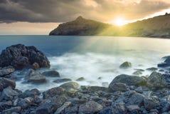Mooie overzees sunset_1 Stock Fotografie