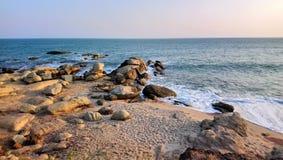 Mooie overzeese golven bij kanyakumari India royalty-vrije stock foto
