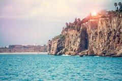 Mooie overzeese kust Royalty-vrije Stock Afbeeldingen