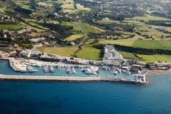 Mooie overzeese kust in Cyprus Royalty-vrije Stock Afbeeldingen