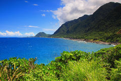 Mooie overzeese kustlijn in Oost-Taiwan Royalty-vrije Stock Foto's