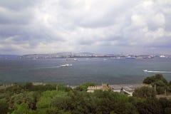 Mooie overzeese mening in Istanboel Stock Fotografie
