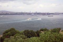 Mooie overzeese mening in Istanboel Royalty-vrije Stock Foto