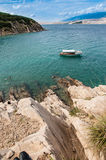 Mooie overzeese van Kroatië bergen Stock Foto