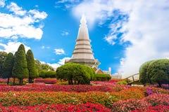 Mooie pagode op scène van de het parkaard van Doi Inthanon de nationale Royalty-vrije Stock Foto
