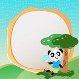 Mooie panda met frame Stock Foto's