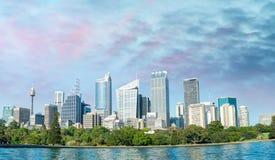 Mooie panoramische horizon van Sydney, NSW - Australië Royalty-vrije Stock Afbeelding
