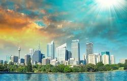 Mooie panoramische horizon van Sydney, NSW - Australië Stock Foto's